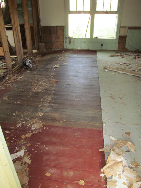 old tongue-in-groove floors