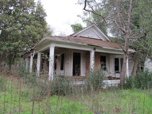 Abandoned old house scheduled for demolition