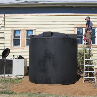 Why we chose a black rainwater cistern
