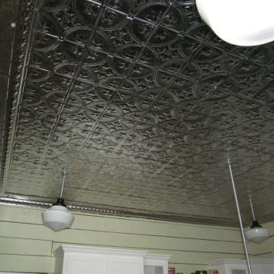 Before and After:  Our Kitchen Tin Ceiling Project
