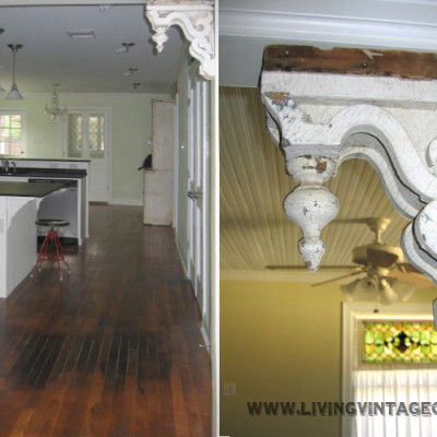 Old Corbels as Decorative Accessories