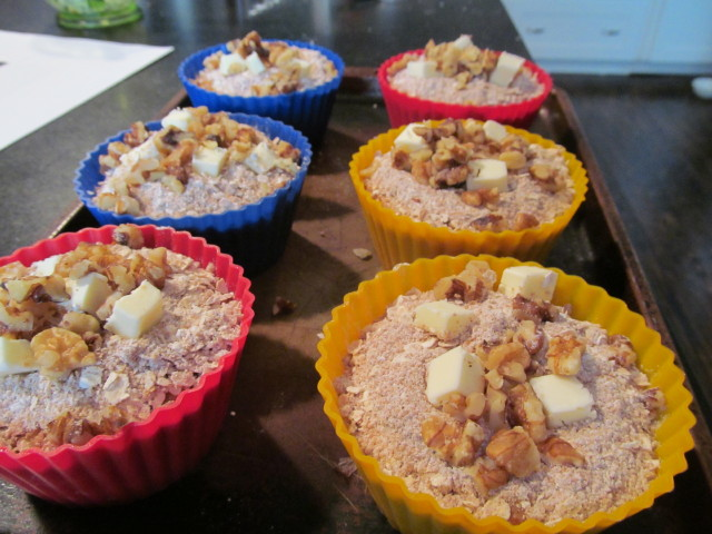 Delicious pumpkin muffins ready to bake