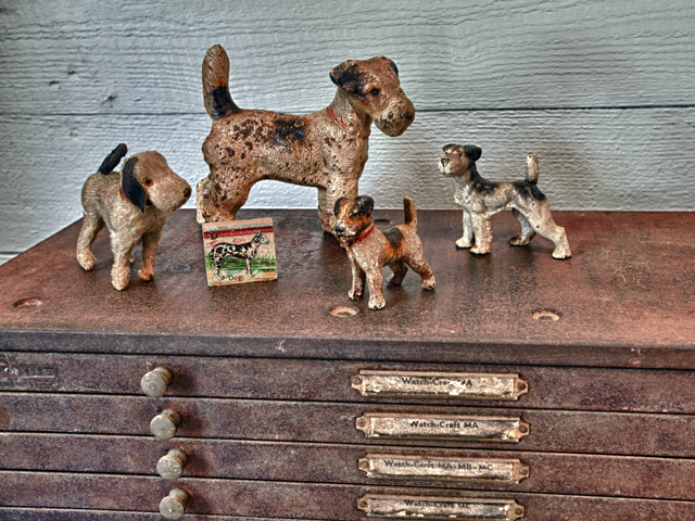 Living Vintage - antique dog collectibles