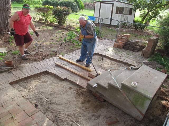 Moving the concrete steps