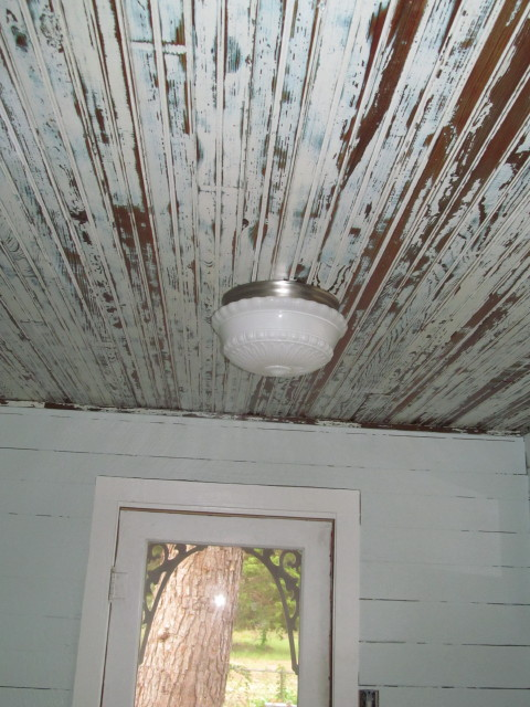 beadboard ceilings after applying polyurethane