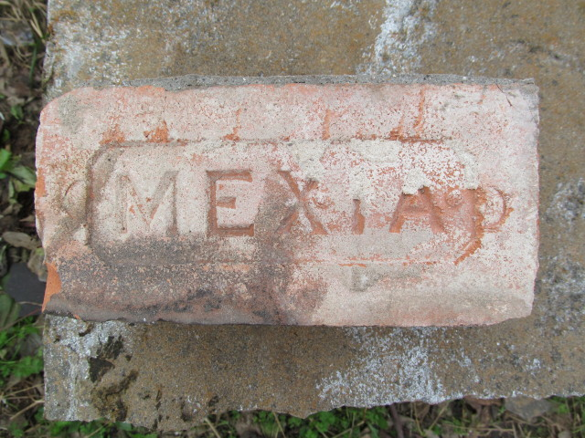 an old mexia brick