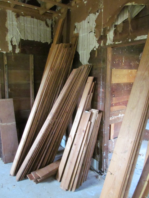 stack of shiplap boards