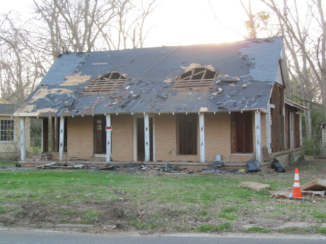 House after two dormers removed
