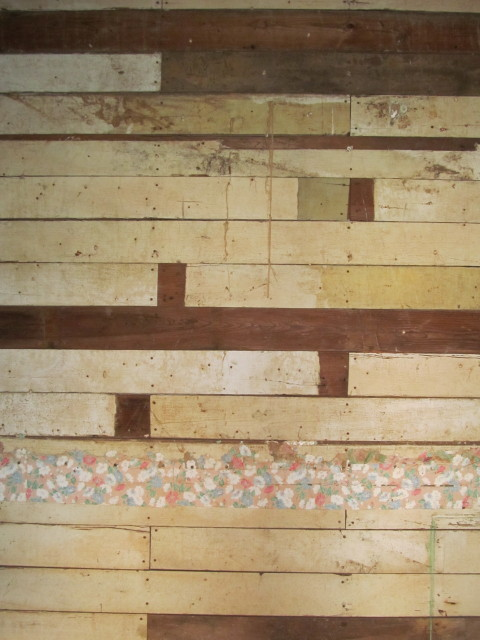 old shiplap with old milk paint