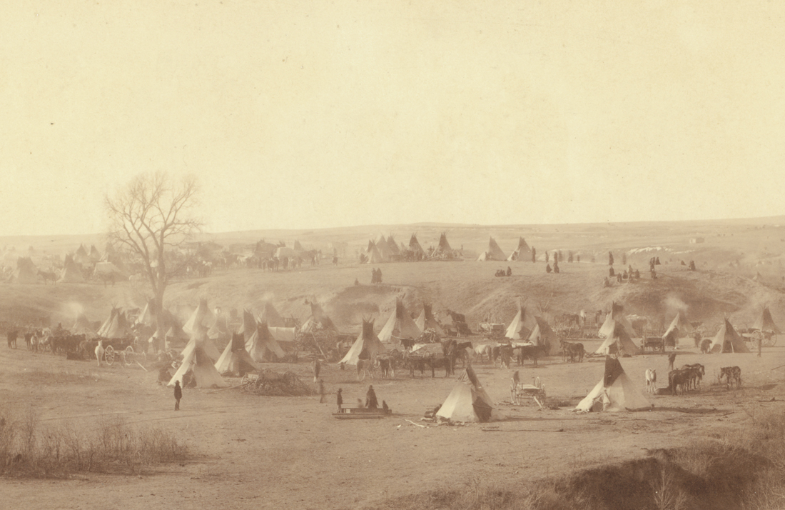 A hostile Indian camp - Living Vintage