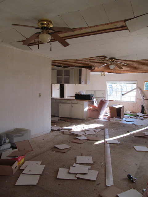 interior of ranch house to be torn down
