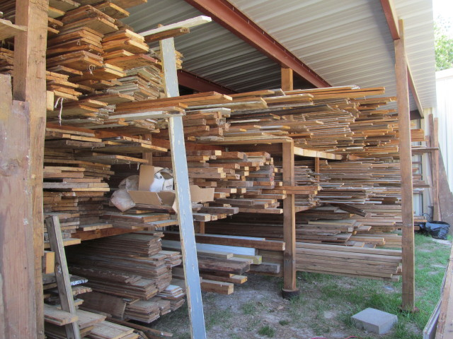 Lumber storage barns - 1