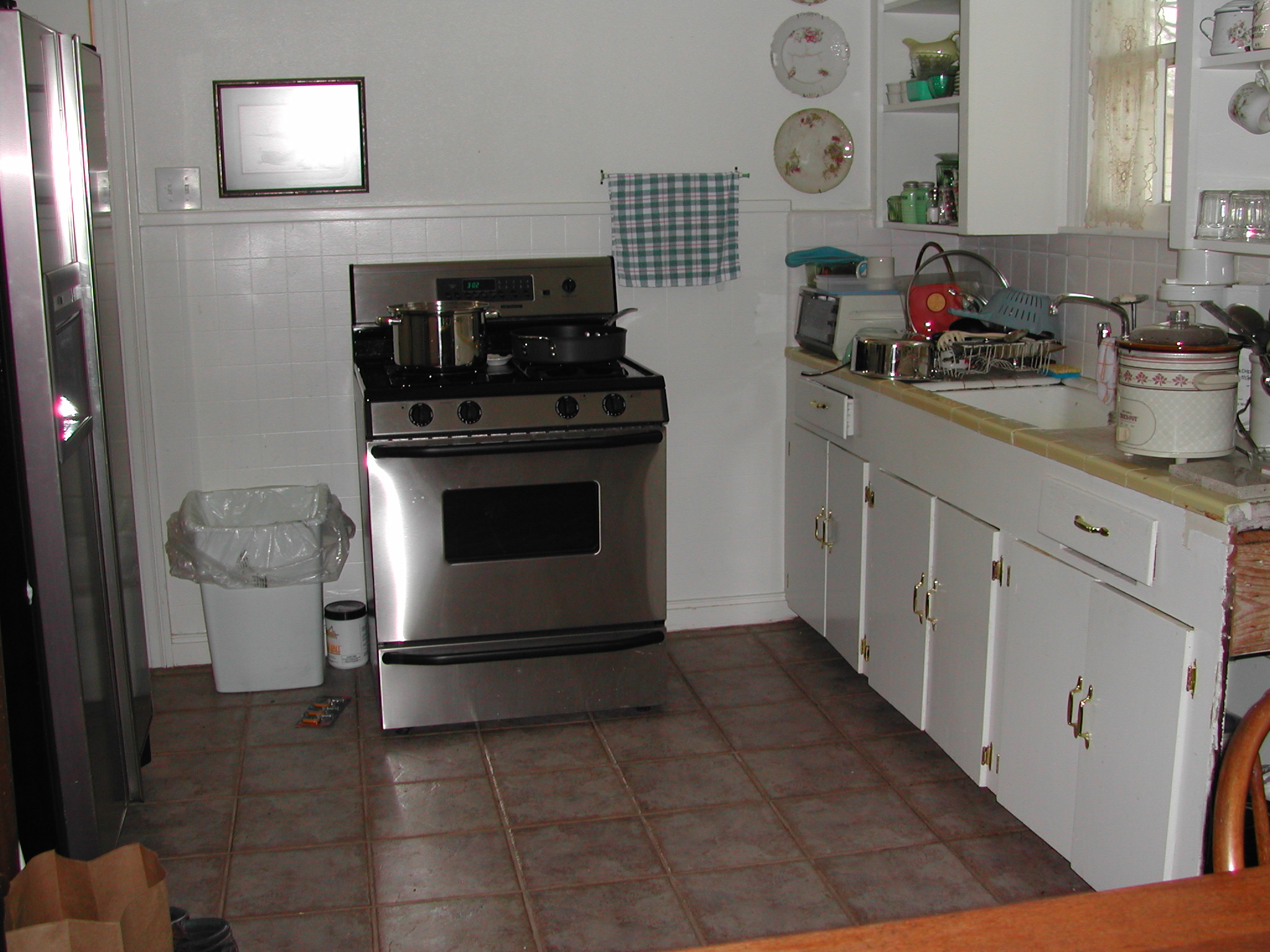 Ruth Avenue kitchen - before - I used an old cabinet for a pantry