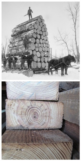 old lumber collage