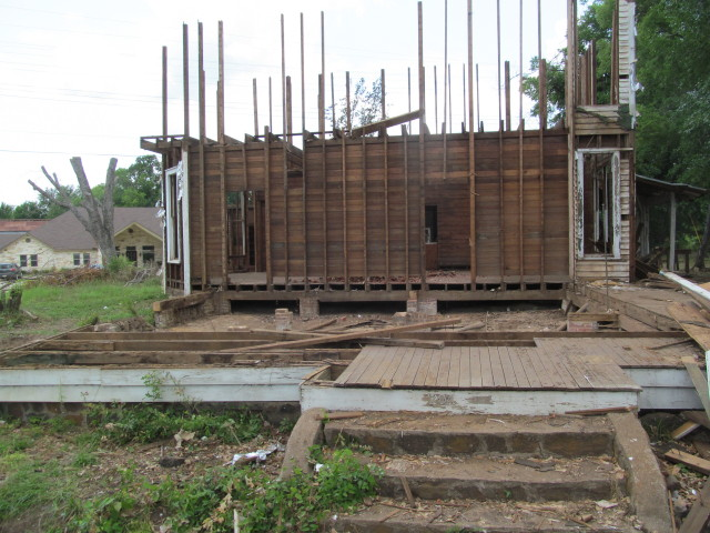 The old house we're salvaging as of Friday, June 14