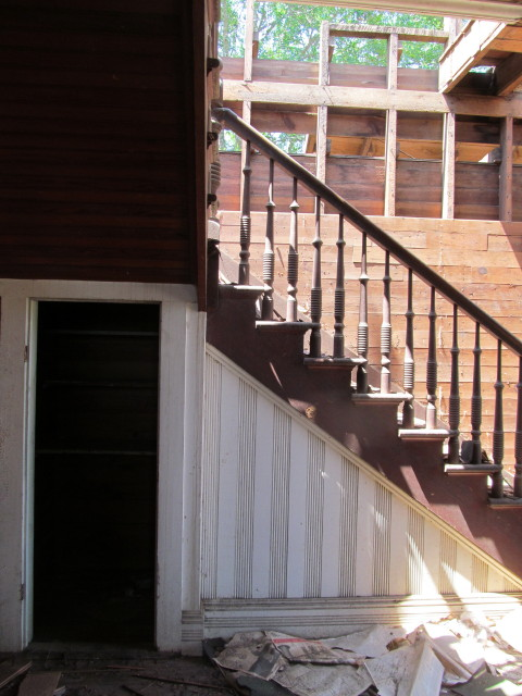 detail shot of old staircase