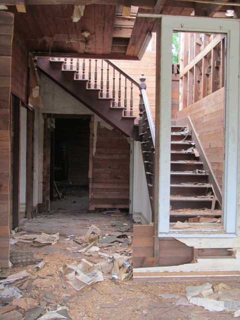 old staircase in the house we're salvaging