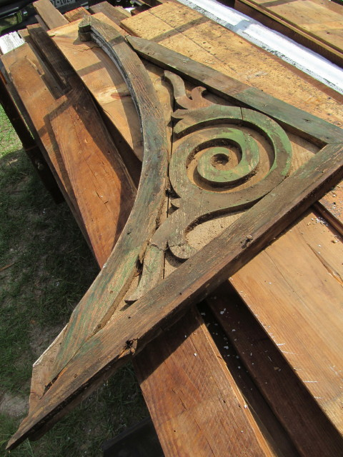 salvaged old corbel