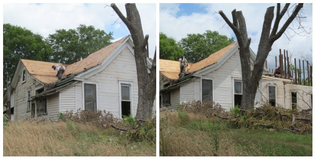 scrapping off roof shingles to save the roof boards