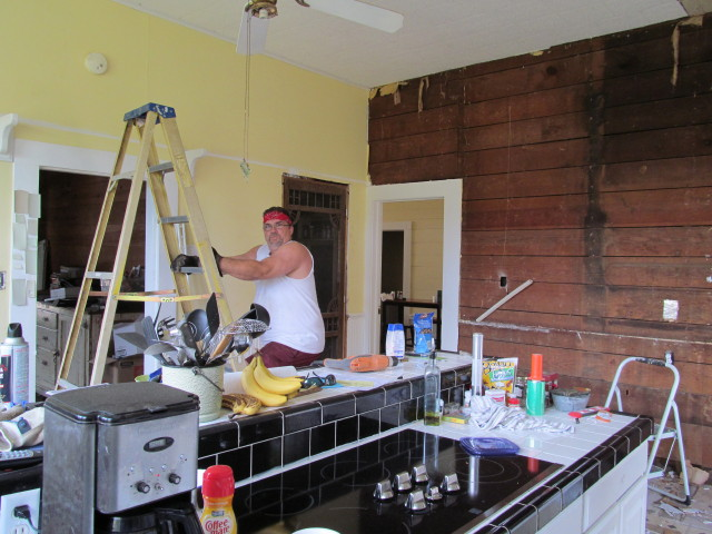 still removing drywall from our kitchen