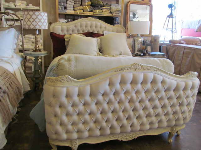 Gorgeous beds and linens at Wildflower Organics, Austin, TX
