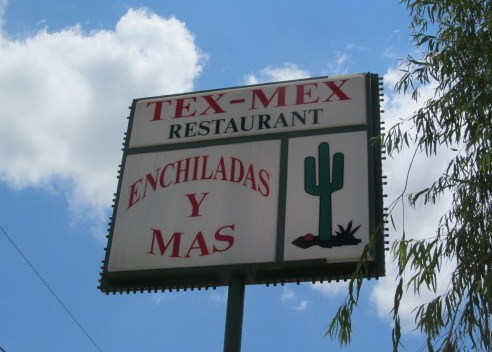 Delicious Tex Mex food at Enchiladas Y Mas, Austin, TX