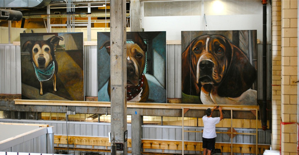 An Act of Dog - Their paintings are a tribute to 5,500 dogs, all of which have been euthanized.  Featured on Living Vintage