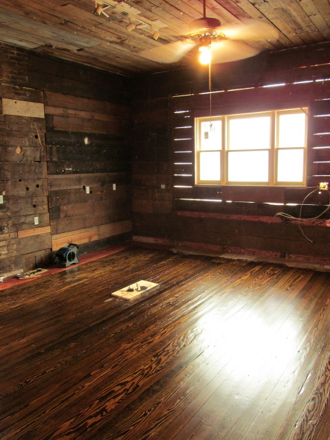 drying stained floors