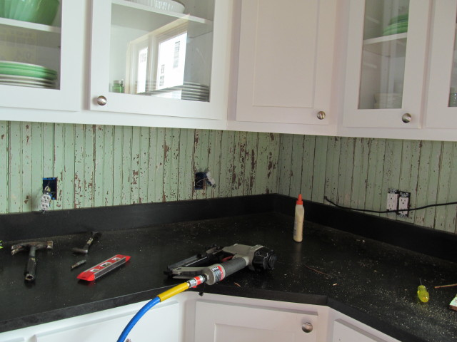 Beadboard Backsplash Ideas Part - 16: Installing The Beadboard Backsplash