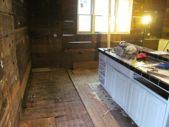 removal of the damaged floors reveals good subfloors