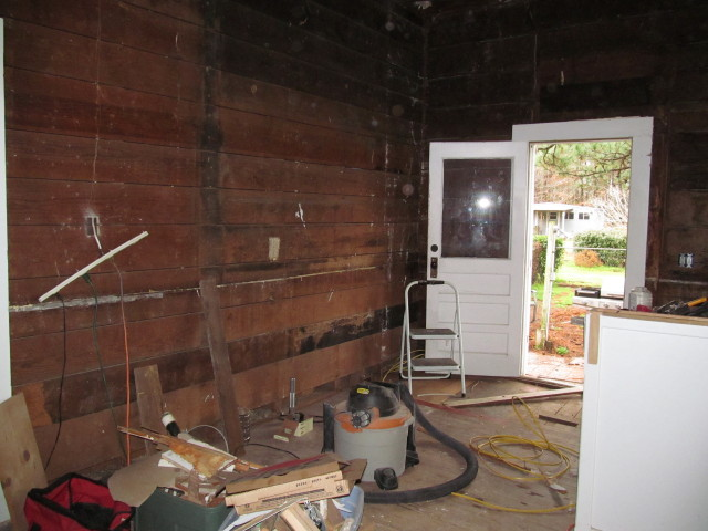 wide plank walls and original location of back door