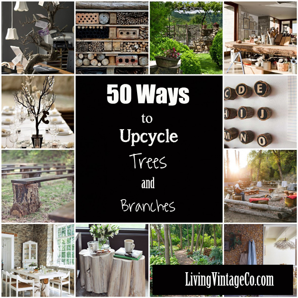50 Ways to Upcycle Tree Branches and Logs