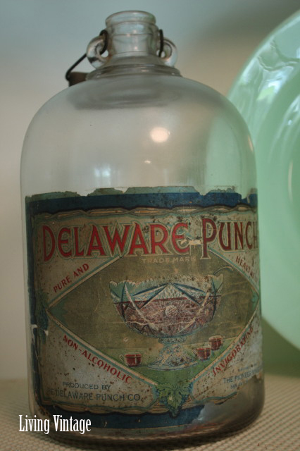 An old Delaware Punch bottle with pretty graphics