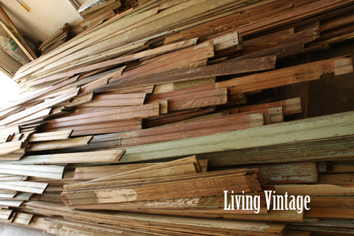 Big pile of reclaimed beadboard - Living Vintage
