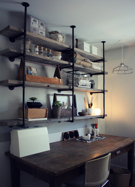Idea for industrial office shelves