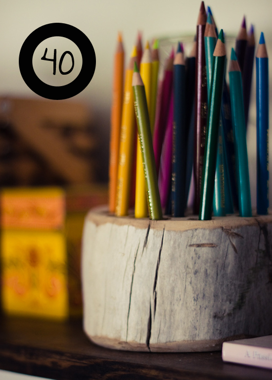 Make a Whimsical Wood Pencil Holder
