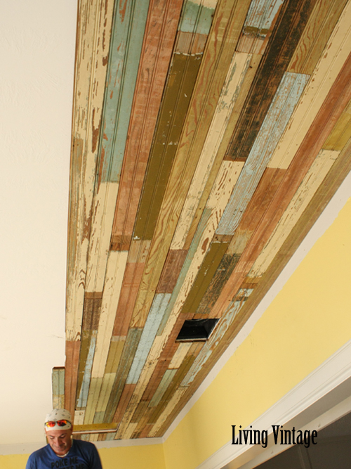 Making good progress with the beadboard ceiling - Living Vintage