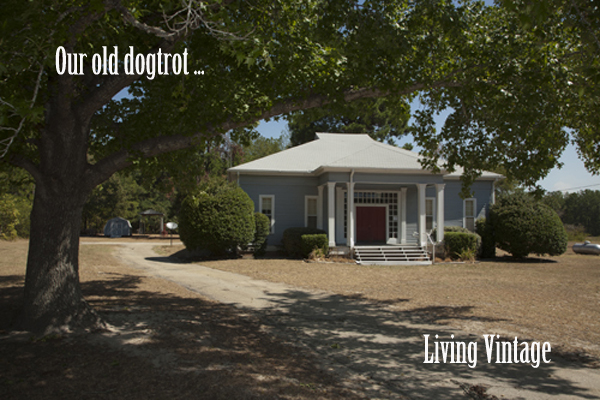 Living Vintage - Our dogtrot home when we first saw it