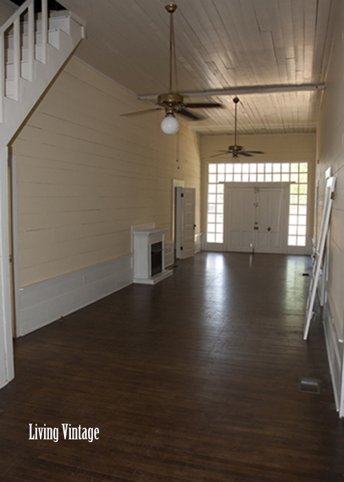 Living Vintage - The breezeway of our dogtrot as it was right before moving in