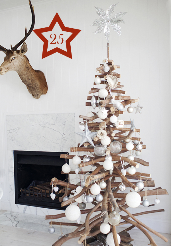 Make A Christmas Tree Out Of Branches