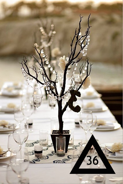 a pretty centerpiece using twigs