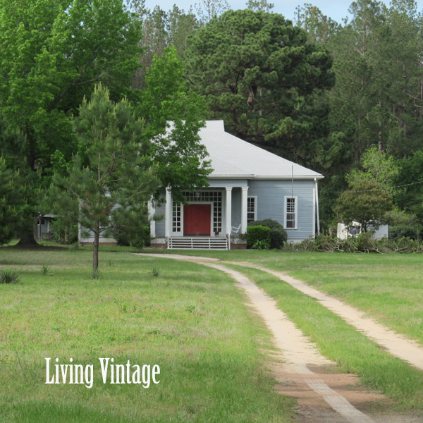 Living Vintage - down a dirt driveway to our old dogtrot