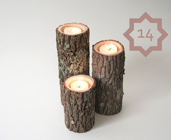 make candles from branches