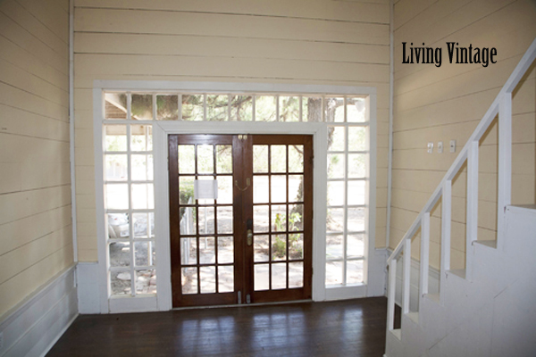 Living Vintage - the enclosed back side of the dogtrot breezeway