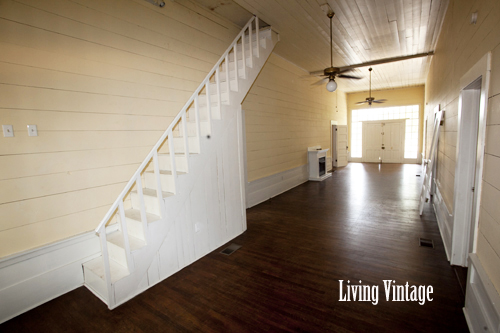 the narrow staircase in our old dogtrot - Living Vintage