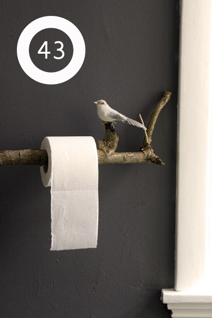 use a branch to hold a bathroom essential