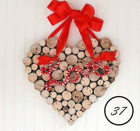 valentine's day heart made using tree branches