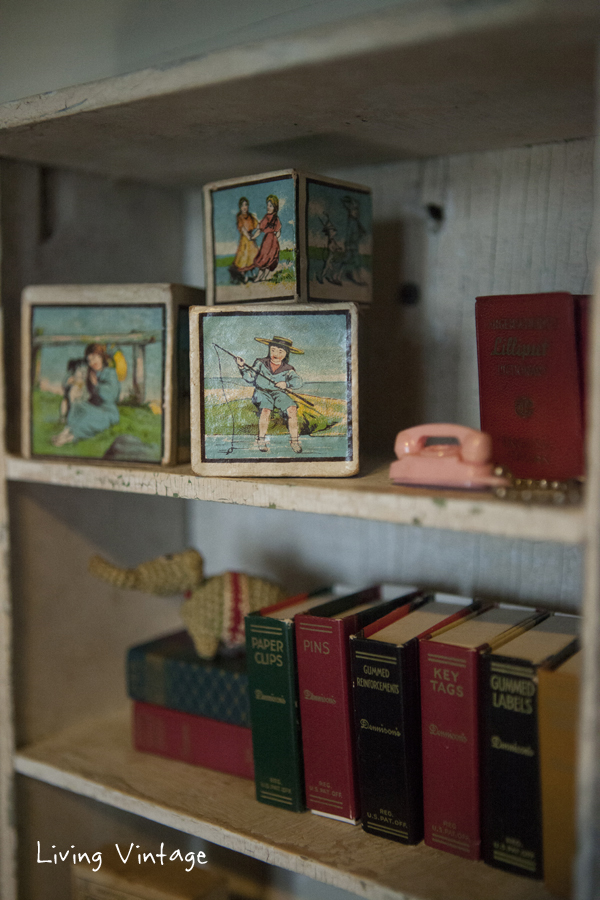 closeup of some of the miniatures I collect - Living Vintage