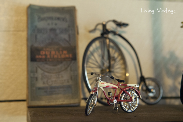 closeup of the miniature bicycles I collect - Living Vintage