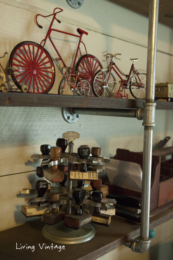 miniature bikes and office stamps - Living Vintage